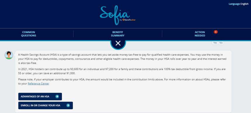 Sofia-HSA question